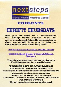 Thrifty Thursdays @ Next Steps