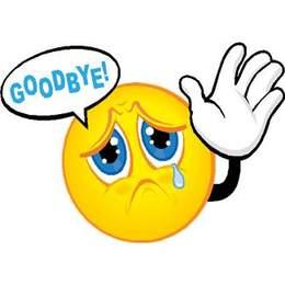 A sad goodbye
